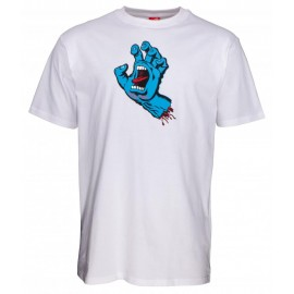 Santa Cruz T-Shirt Screaming Hand white