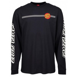 Santa Cruz T-Shirt OG Classic Dot Longsleeve black