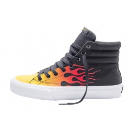 Straye Footwear Venice Black/Red/Flames