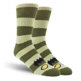 TOY MACHINE SOCKS MONSTER BIG STRIPE GREEN