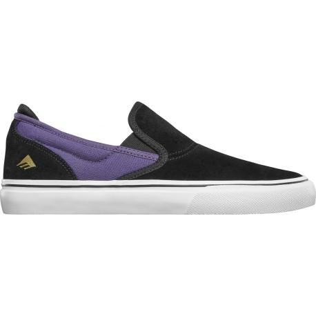 Emerica WINO G6 SLIP-ON BLACK/PURPLE - Chaussures de skateboard
