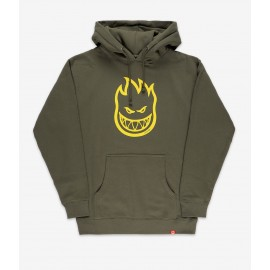 SPITFIRE BIGHEAD HOODIE ARMY YELLOW