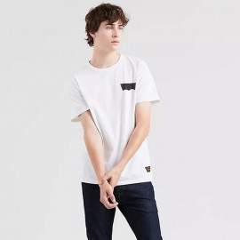 Levis Skateboarding skate graphic ss tee - lsc white core batwing black