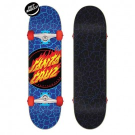 Santa Cruz dot flame Complete Skateboard 7.5