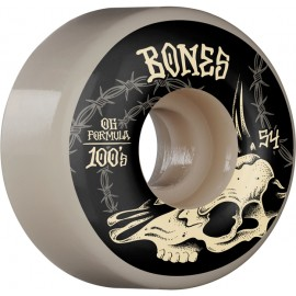 BONES Wheels 100'S DESERT SKULL V4 54 MM (jeu de 4)