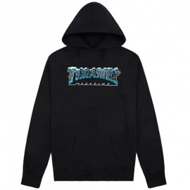 THRASHER Skateboard Magazine Ice Sweat shirt black
