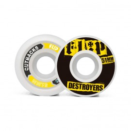 Flip Cutback Destroyers 51mm 99a Black ( jeu de 4 )
