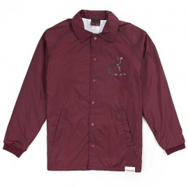 Diamond Supply UN Polo Coach Jacket - Burgundy