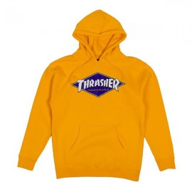 THRASHER SWEAT DIAMOND LOGO HOOD GOLD