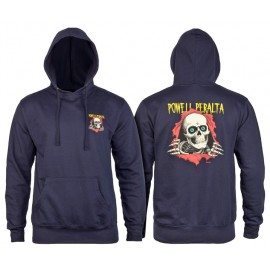 POWELL PERALTA SWEAT RIPPER HOOD NAVY