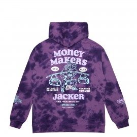 MONEY MAKERS - HOODIE - PURPLE TIE DYE Sweat shirt