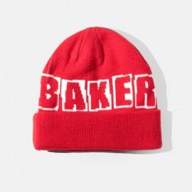 Baker Skateboards Big Brand Logo Beanie Red Bonnet