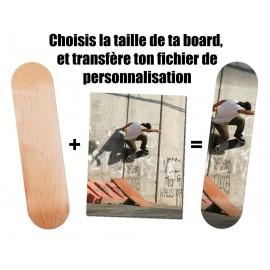 Planche de skate personnalisée avec votre image, logo, texte ...