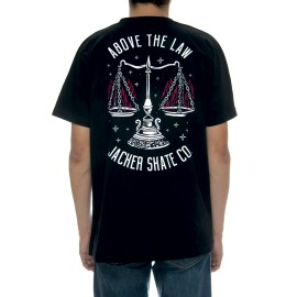 Jacker Above the Law T-shirt, noir