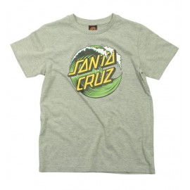 Santa Cruz Wave Dot T-shirt, heather grey