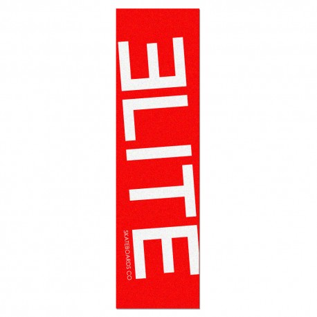 Elite Skateboards Co big logo fond rouge