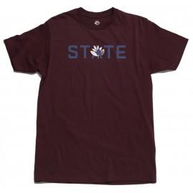 Magenta X State T-shirt, Burgundy