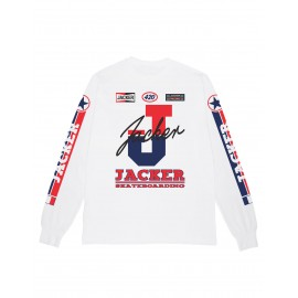 Jacker racer T-shirt, long sleeves blanc