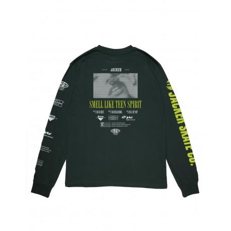 Jacker Teen Spirit T-shirt, long sleeves vert