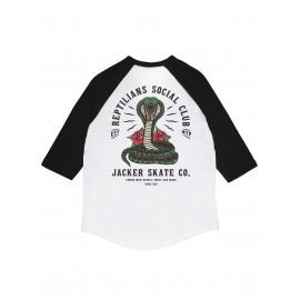 Jacker Social Club Raglan T-shirt, blanc