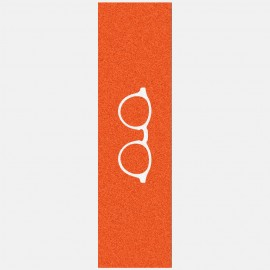 White glasses logo grip orange Griptape