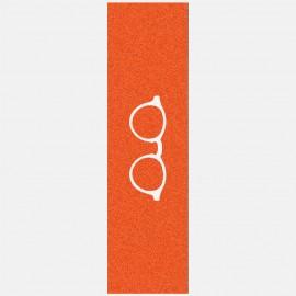 White glasses logo grip orange Griptape