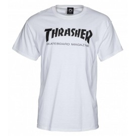 THRASHER  Skateboard Magazine T-shirt, white
