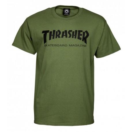 THRASHER  Skateboard Magazine T-shirt, army green
