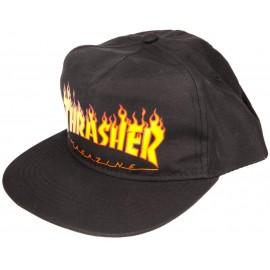 THRASHER Cap Flame Logo Snapback, Casquette