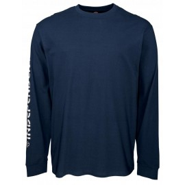 Independent Bar Cross Tee T-shirt, long sleeves navy