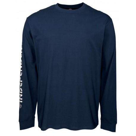 Independent Bar Cross Tee T-shirt, long sleeves navy