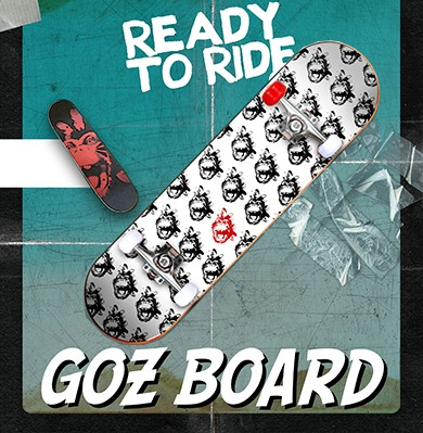 Skateboard officiel de Shaka Ponk : 'Goz Board'